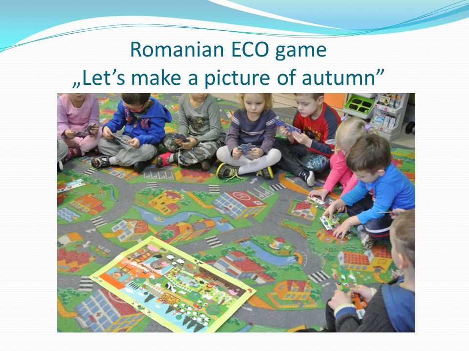 "Romanian ECO game ""Let's make a picture of autumn"