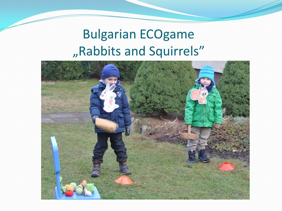 "Bulgarian ECOgame ""Rabbits and Squirrels"