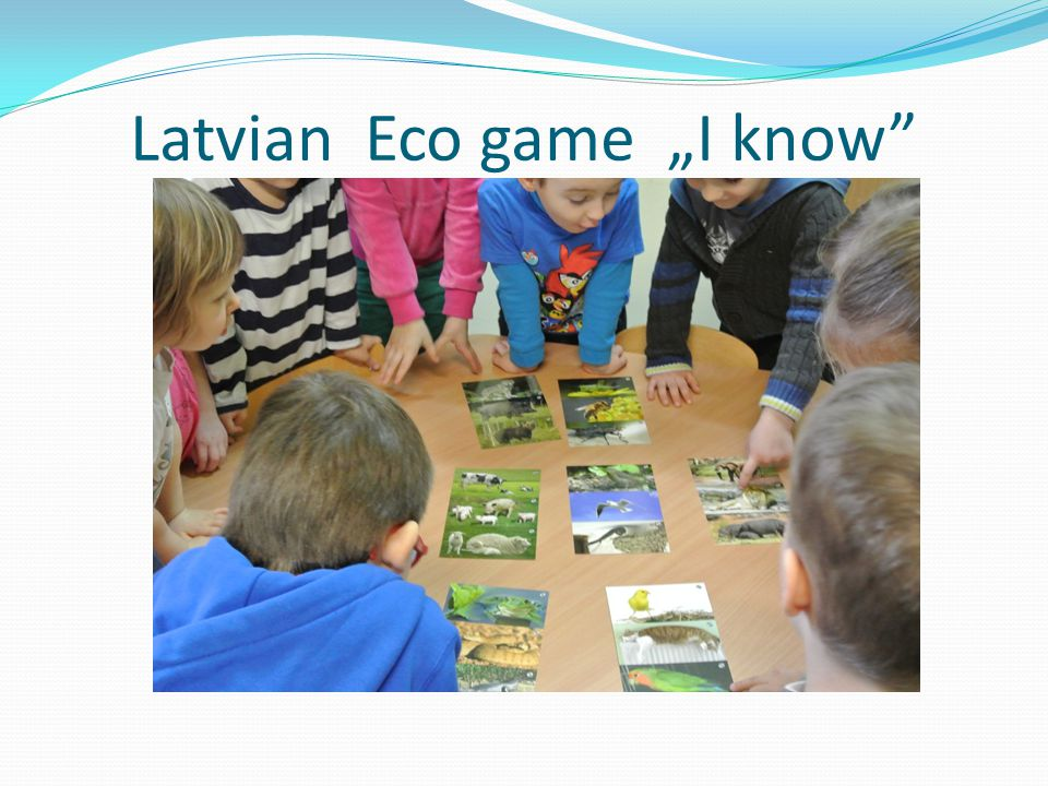 "Latvian Eco game ""I know"