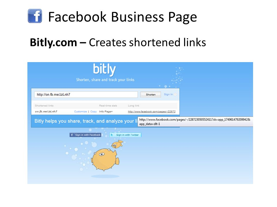 Facebook Business Page Tinyurl.com – Also creates shortened links