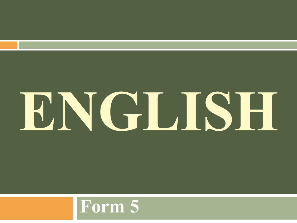 ENGLISH Form 5