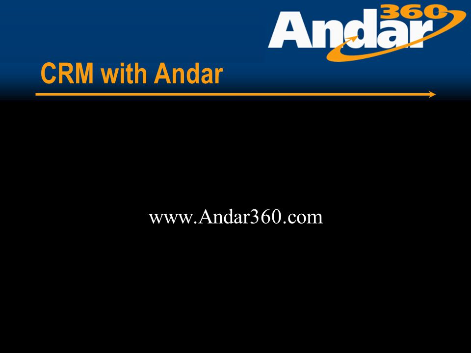 CRM with Andar www.Andar360.com