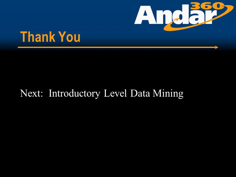 Thank You Next: Introductory Level Data Mining