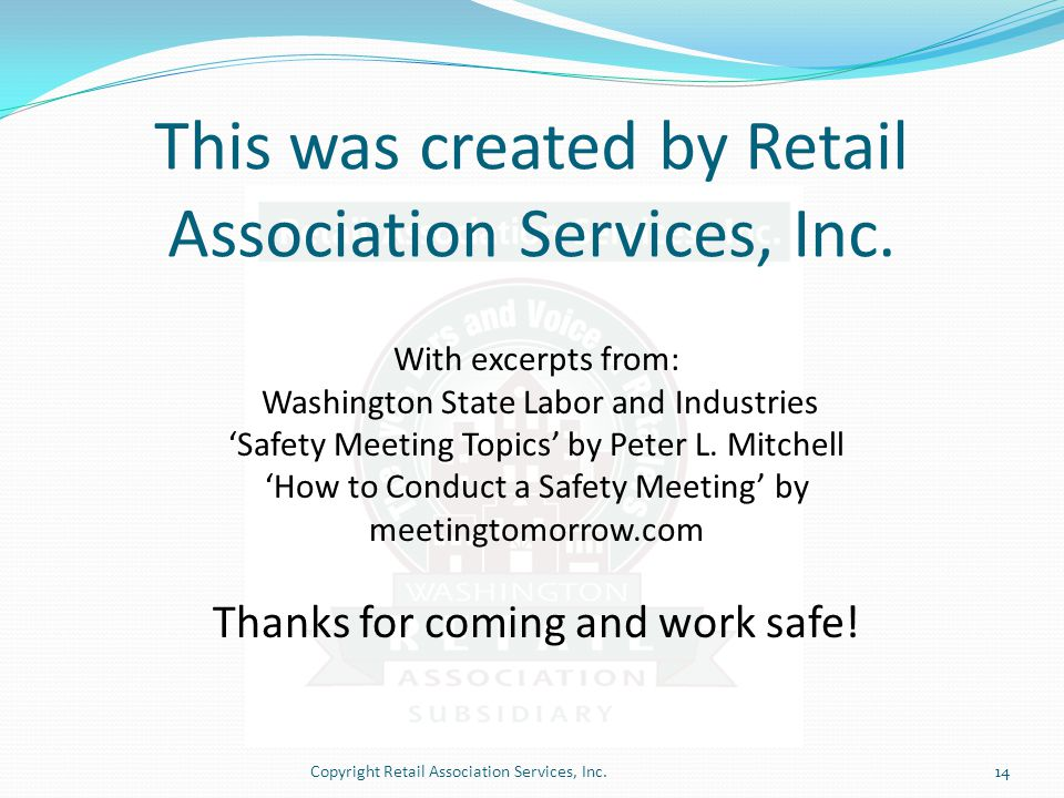 This was created by Retail Association Services, Inc.