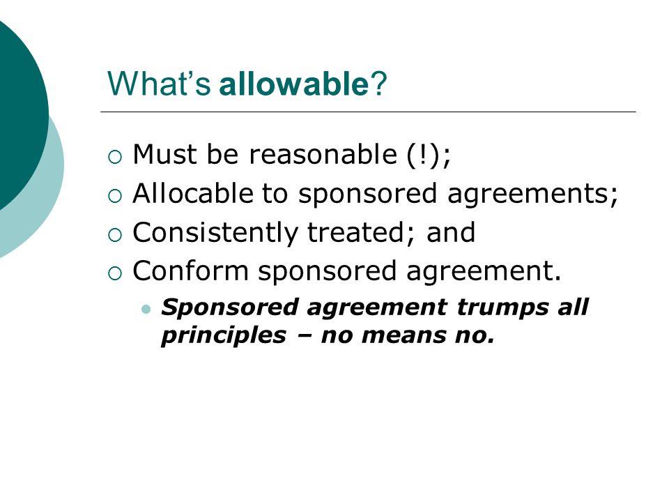 What's Reasonable.
