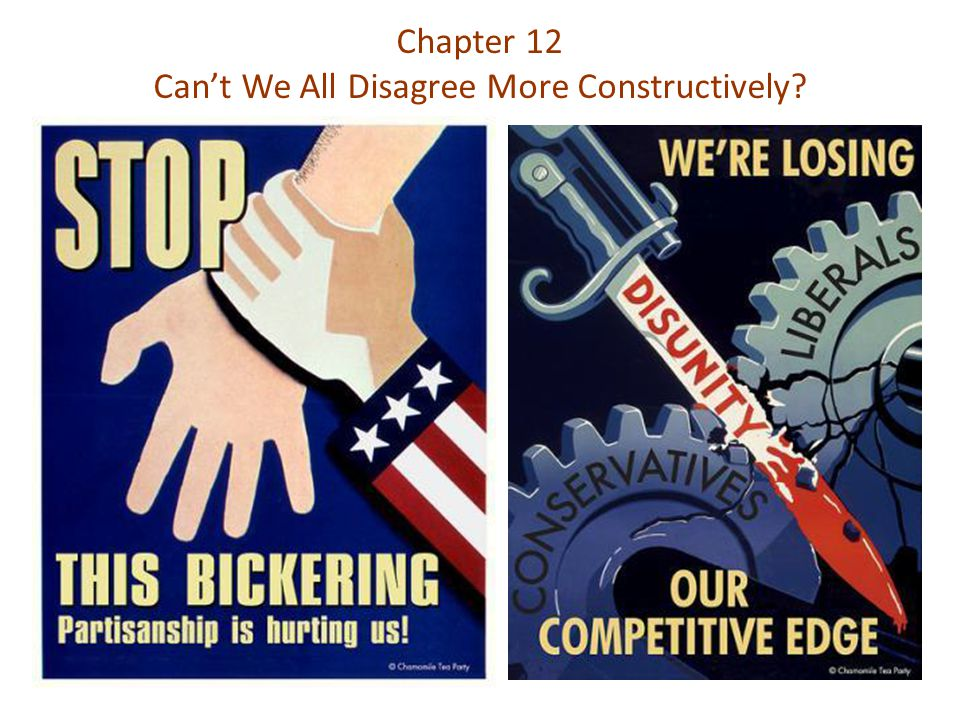Chapter 12 Can't We All Disagree More Constructively?