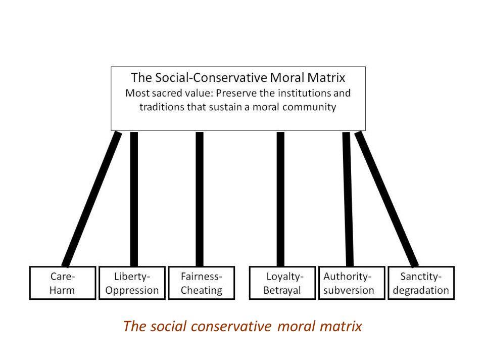 The social conservative moral matrix
