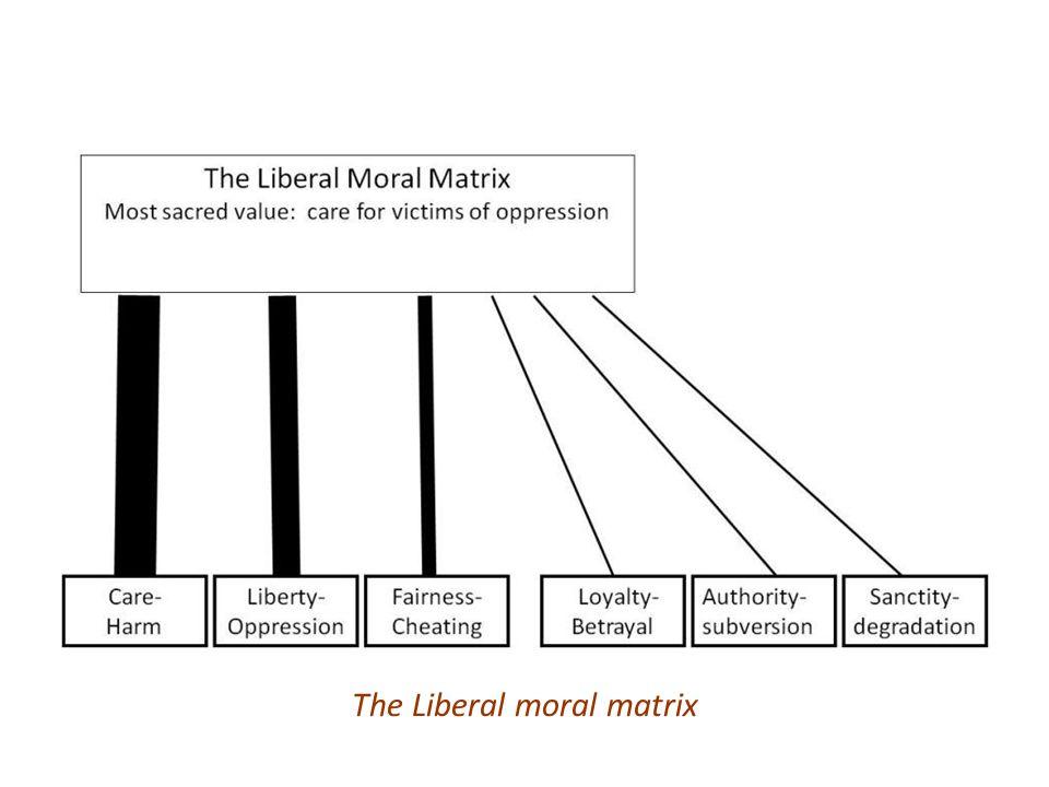 The Liberal moral matrix
