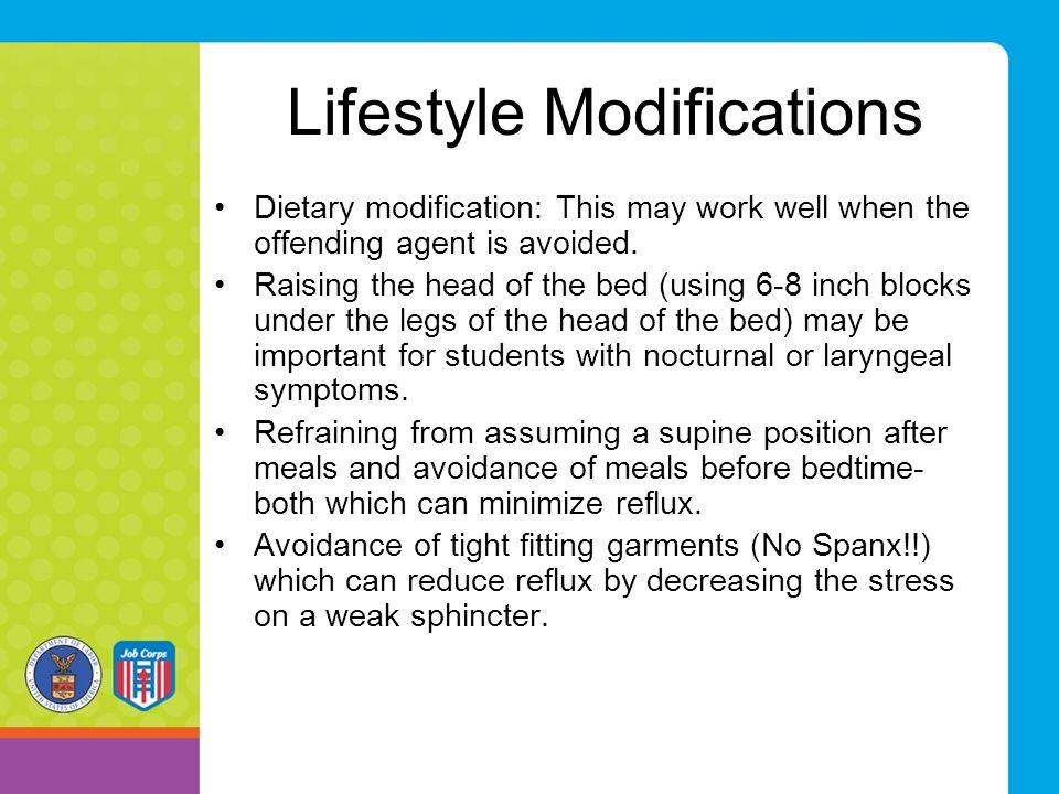 Lifestyle Modifications Dietary modification: This may work well when the offending agent is avoided.