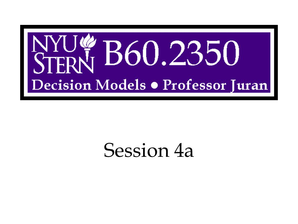 Decision Models -- Prof. Juran62 Solution Methodology