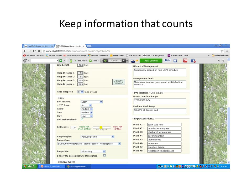 Keep information that counts
