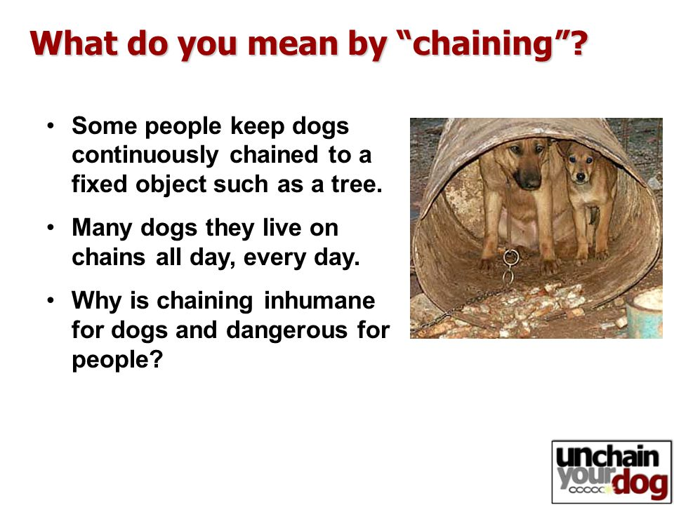 What do you mean by chaining .