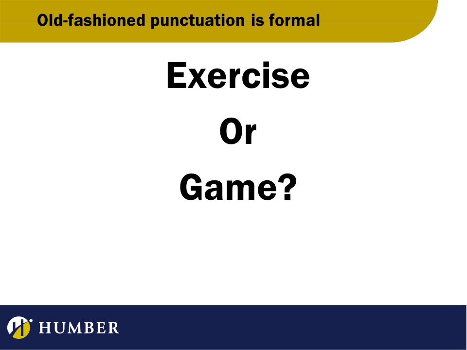 Exercise Or Game