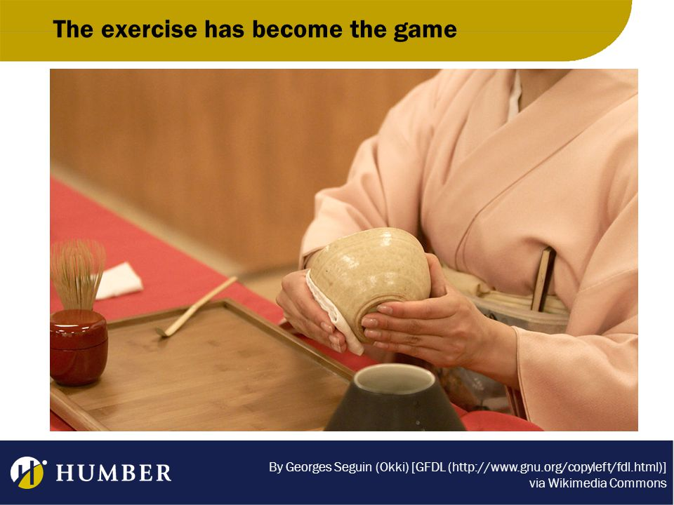 The exercise has become the game By Georges Seguin (Okki) [GFDL (http://www.gnu.org/copyleft/fdl.html)] via Wikimedia Commons