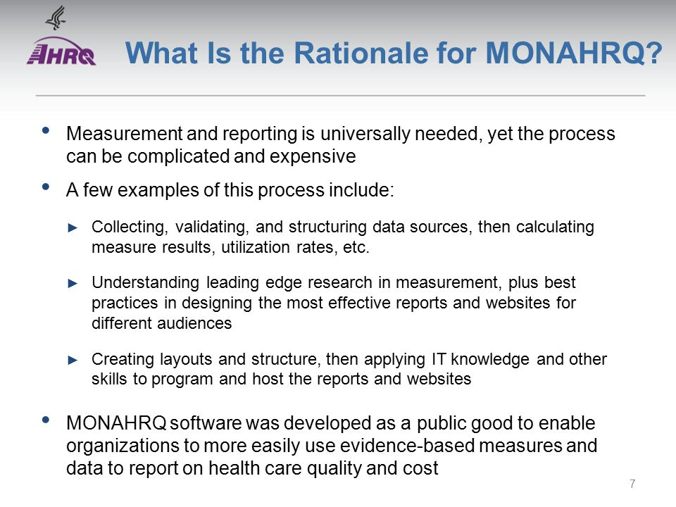 What Is the Rationale for MONAHRQ.