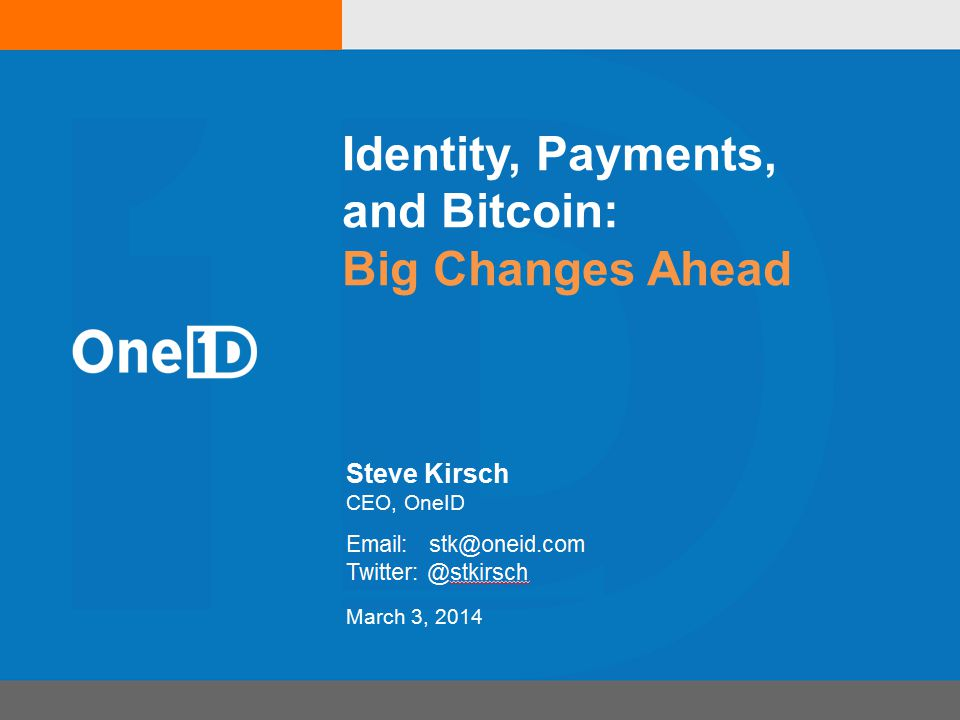 The Future is End-to-End Secure Payments Bitcoin is just a crypto currency It may or may not be THE winner The winner will be Digitally signed end-to-end secure transactions Open APIs, simple money transfer protocol Send(1.32, BTC , Amazon , Invoice 123 )