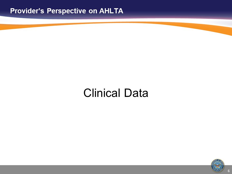 7 In AHLTA, clinical data can be separated into a few broad categories: Data from the S/O module (subjective/objective data) Data from A/P Module (diagnoses, procedure codes, orders) Data from free-text areas of the AHLTA encounter Data from everything else ◘Vitals ◘Questionnaires ◘Results for labs, meds, radiology ◘Etc, etc