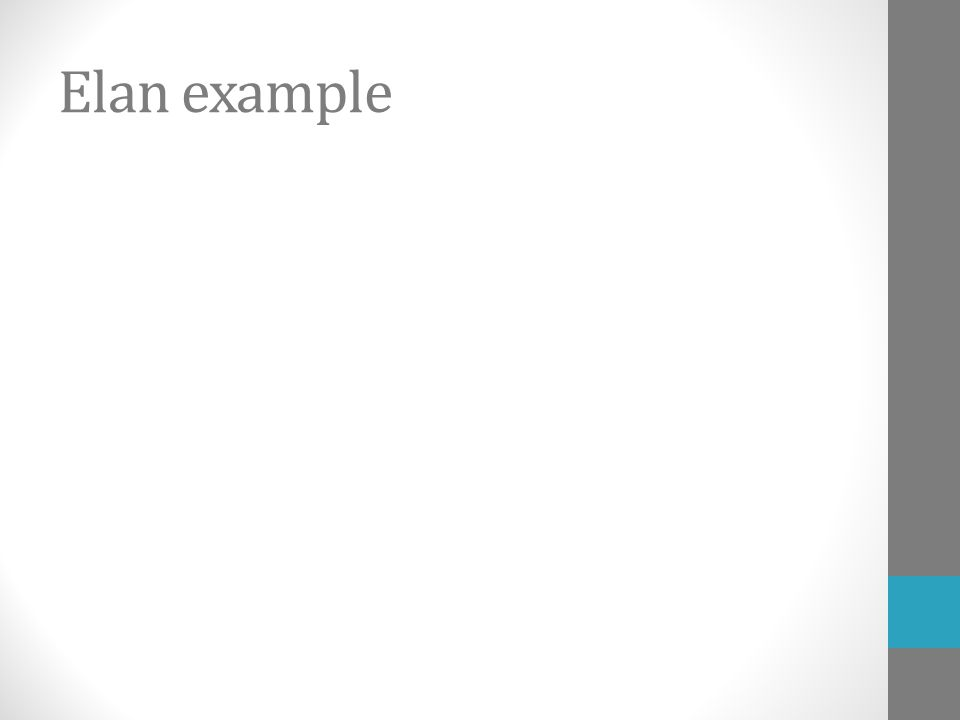 Elan example