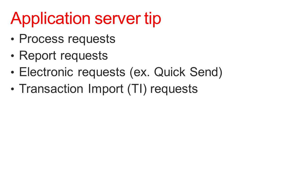 Application server tip
