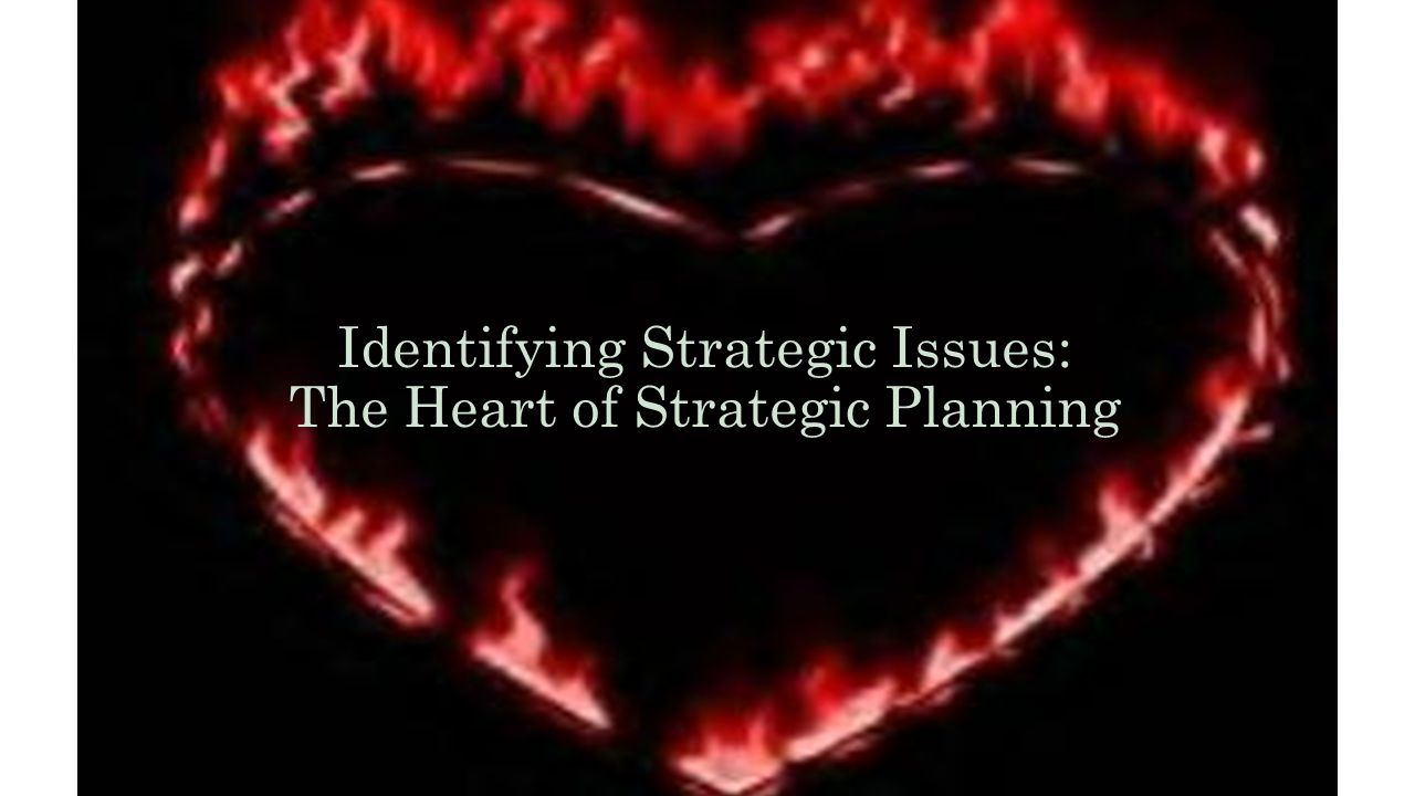 Identifying Strategic Issues: The Heart of Strategic Planning