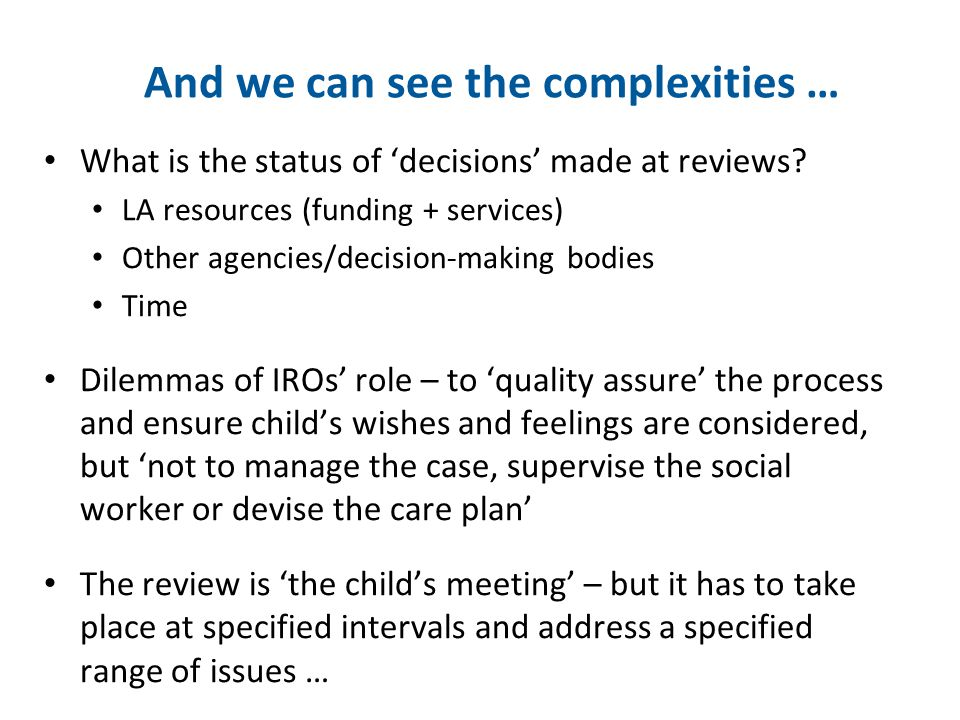 'Where are the key decisions made?' Answers reflect resources; other bodies, esp.