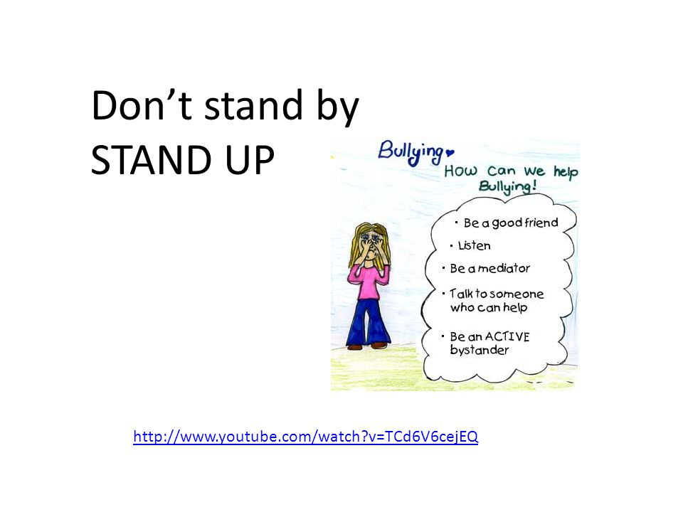 Don't stand by STAND UP http://www.youtube.com/watch?v=TCd6V6cejEQ