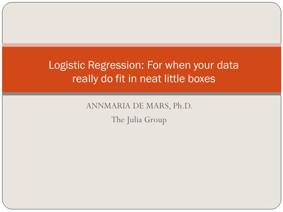 ANNMARIA DE MARS, Ph.D.
