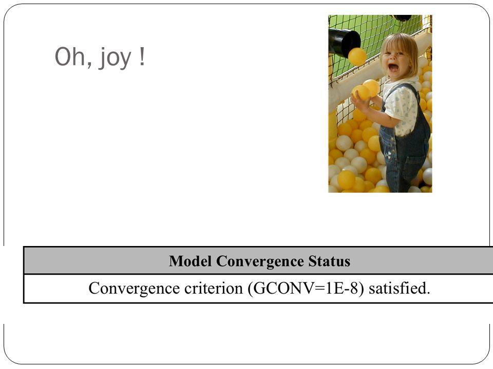 Oh, joy !