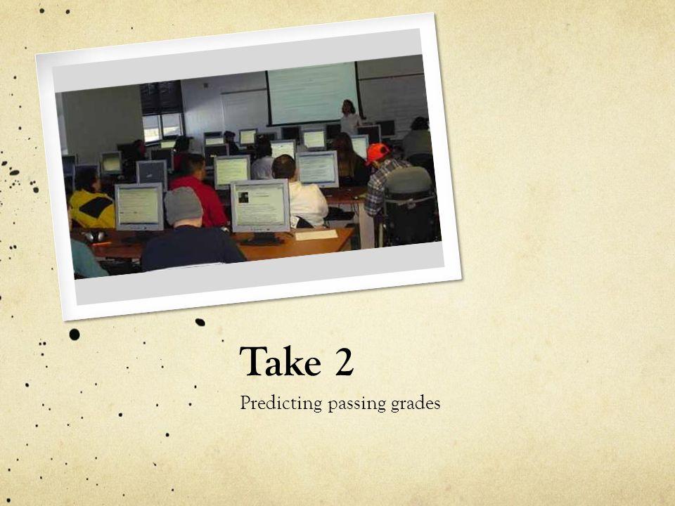 Take 2 Predicting passing grades