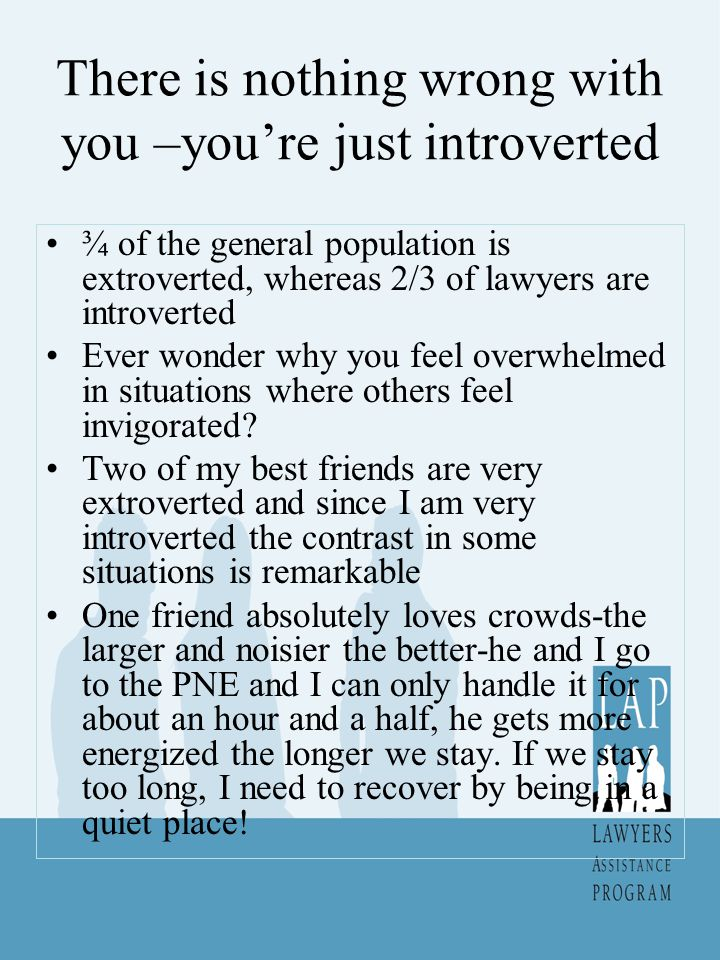 Introverts and Meetings Introverts tend not to speak up much at meetings for various reasons-they spend a lot of energy listening; they get deep in thought about what is being said, they are absorbing new information and need time to process it Fake it till you make it introvert ideas-say hello to people as you enter goodbye when you leave, don t schedule too many meetings in a day, say something early on to establish a presence.