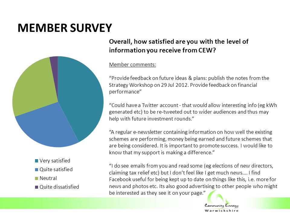 MEMBER SURVEY What is your ability/willingness to get more involved in CEW's activities?