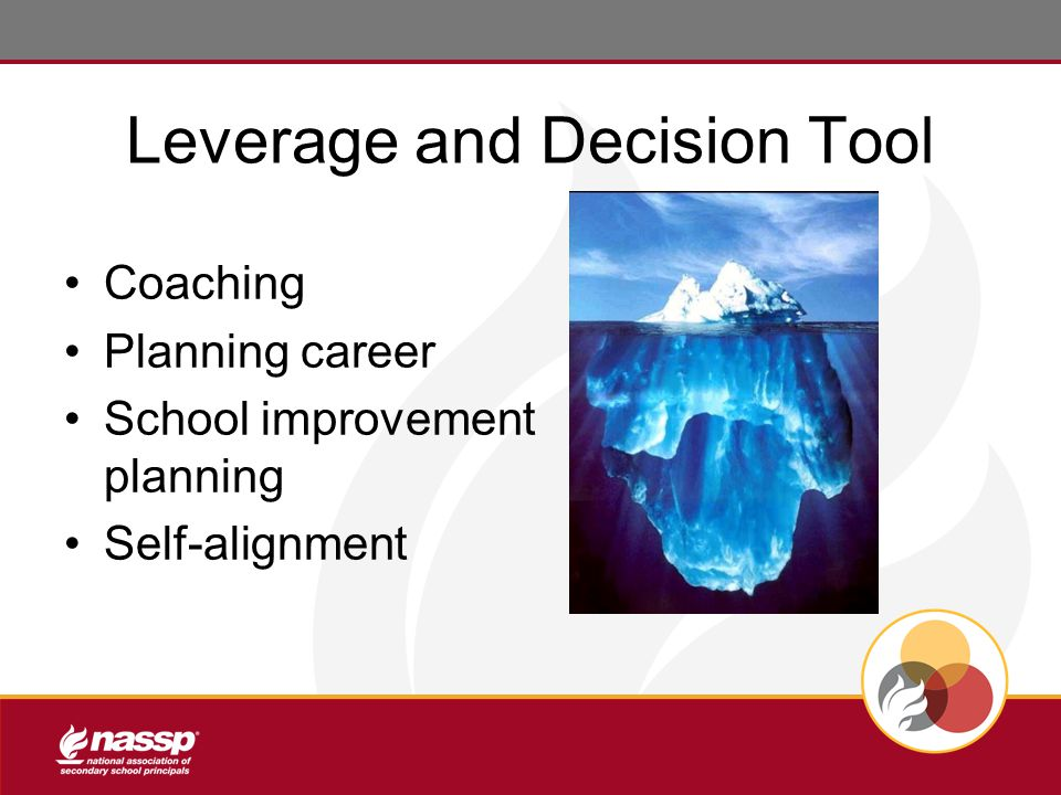 Leverage and Decision Tool Coaching Planning career School improvement planning Self-alignment
