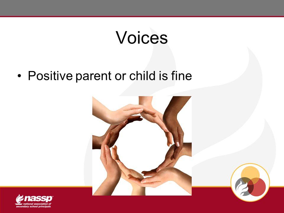 Voices Positive parent or child is fine