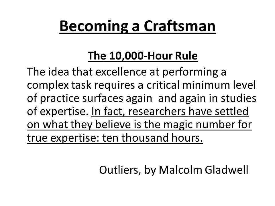 Becoming a Craftsman