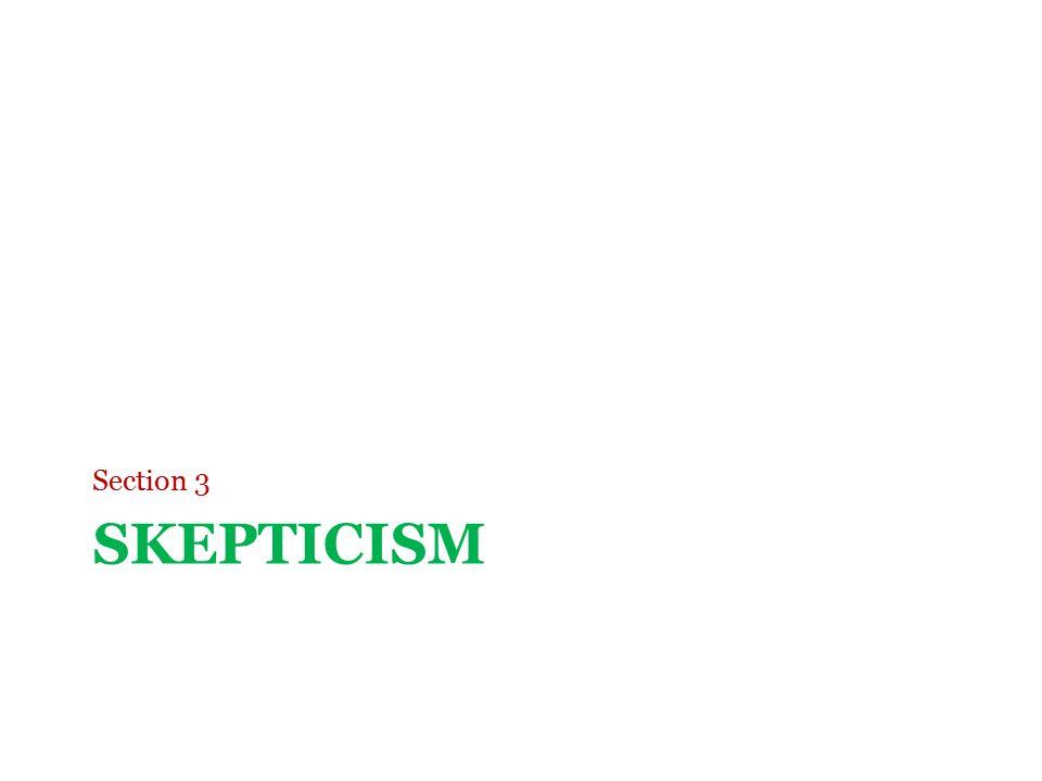 SKEPTICISM Section 3