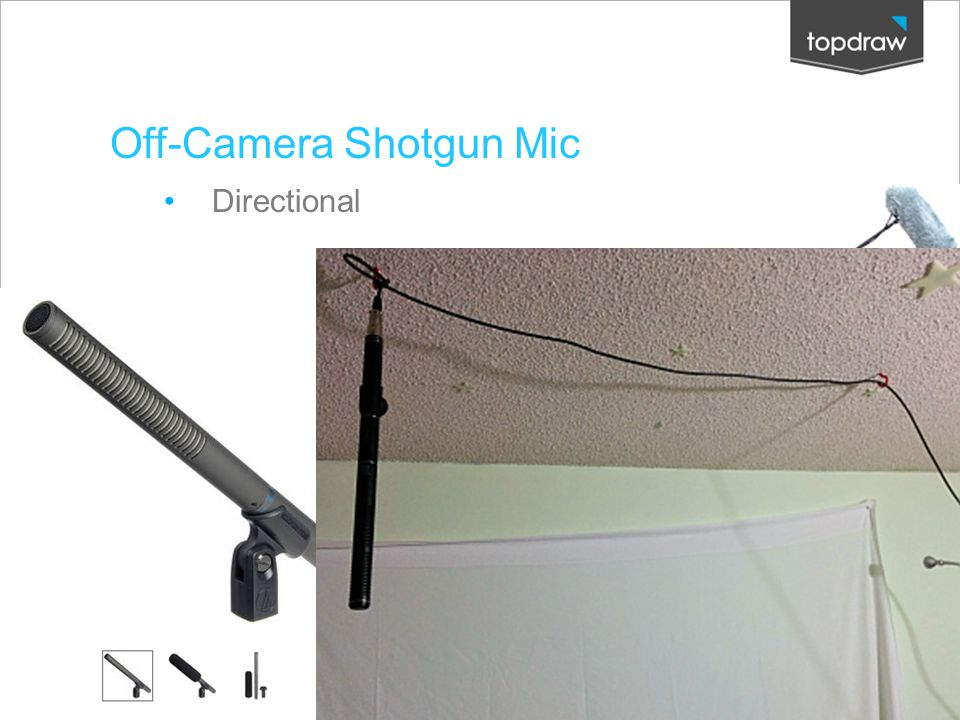 Off-Camera Shotgun Mic Directional Creative Solutions. Measured Results.