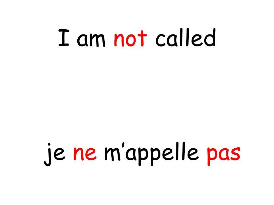 je ne m'appelle pas I am not called