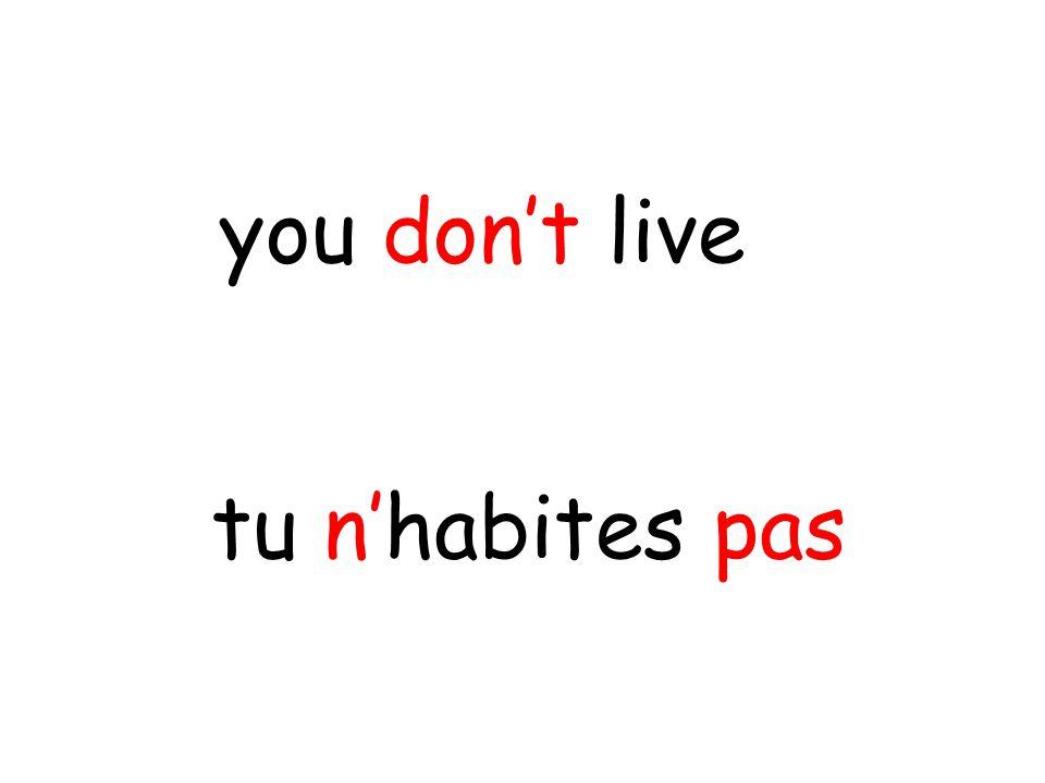 tu n'habites pas you don't live