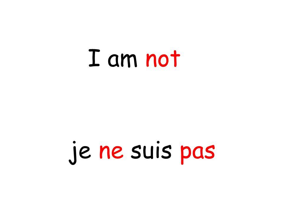 je ne suis pas I am not