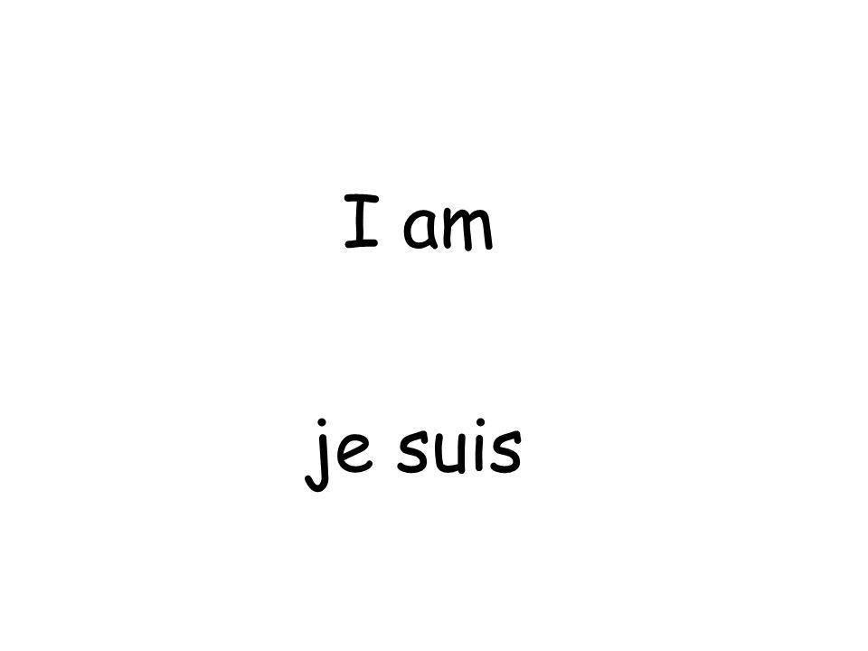 je suis I am
