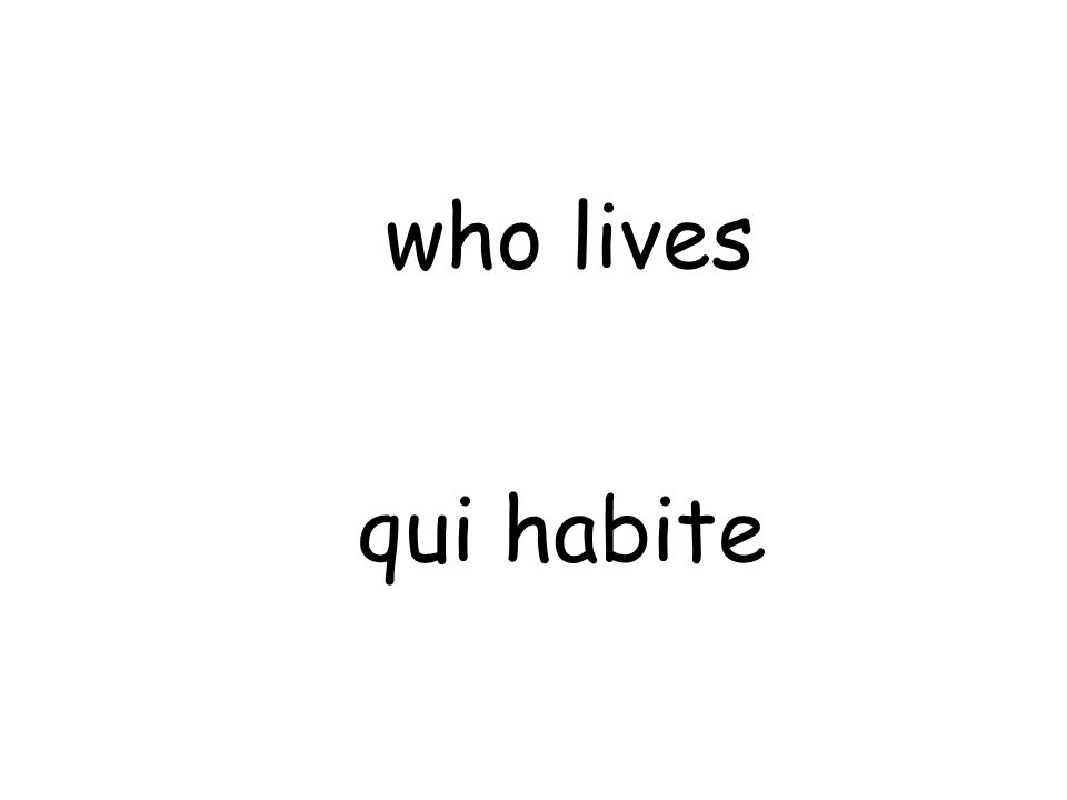 qui habite who lives
