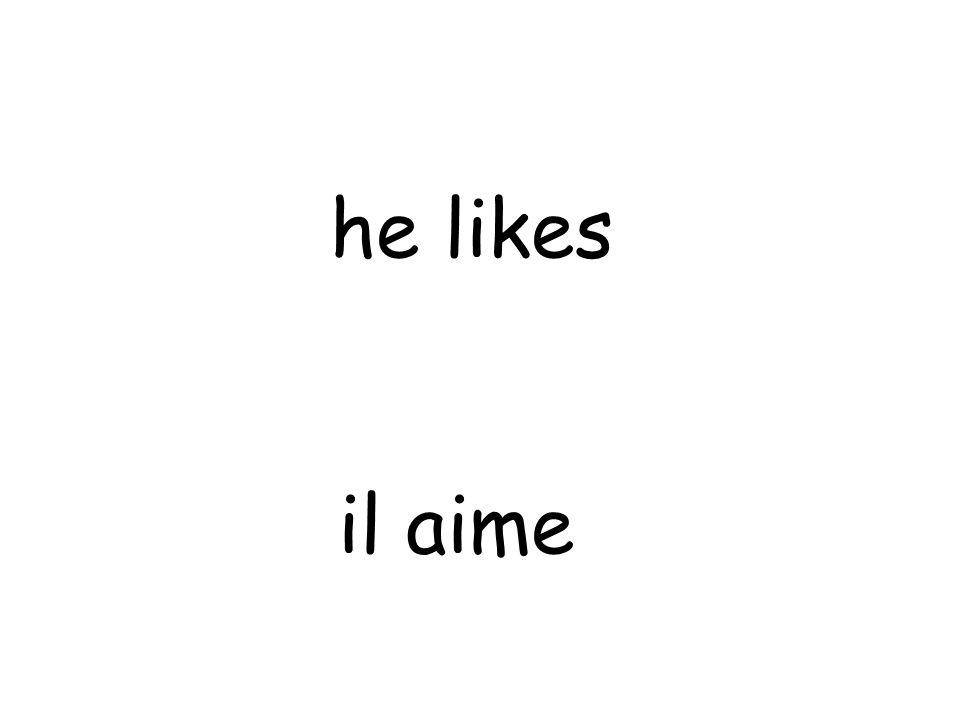 il aime he likes