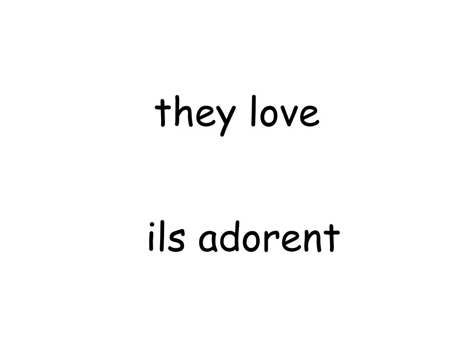 ils adorent they love