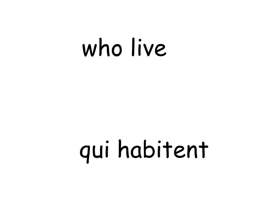 qui habitent who live