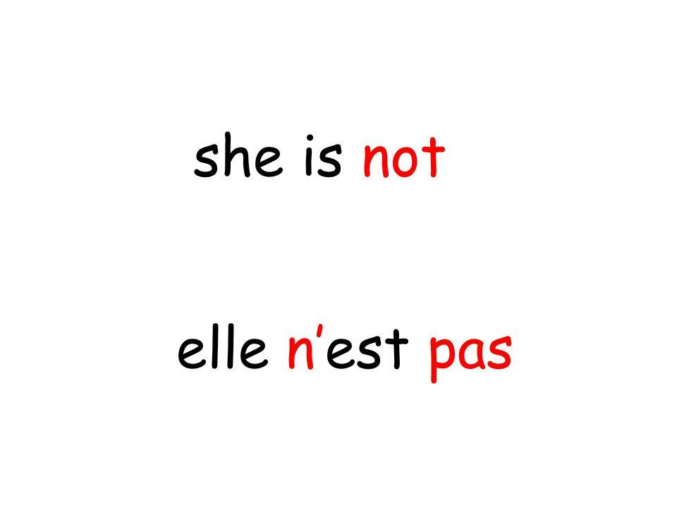 elle n'est pas she is not
