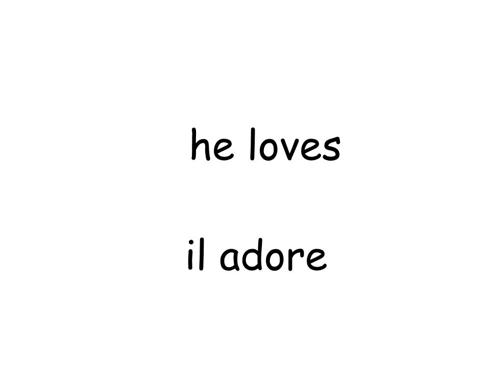 il adore he loves