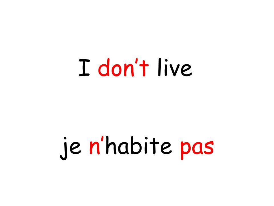 je n'habite pas I don't live