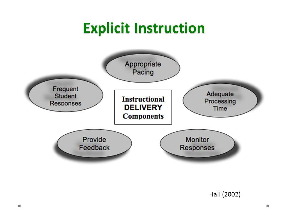 Explicit Instruction Hall (2002)