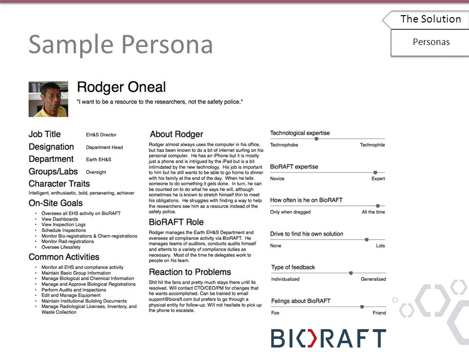 Sample Persona The Solution Personas