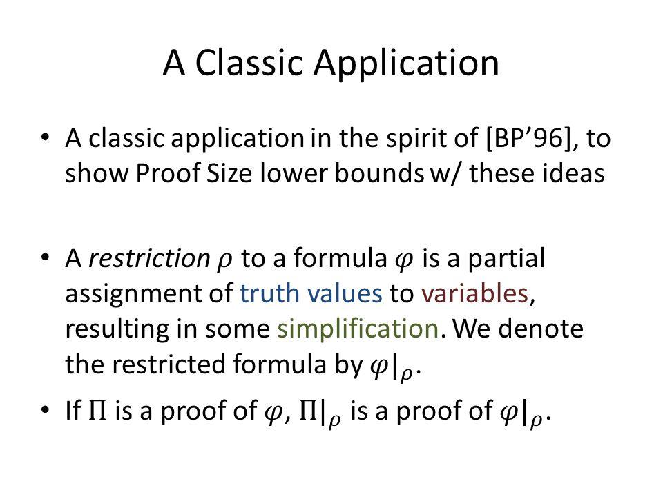 A Classic Application